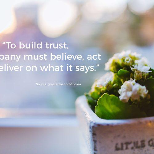 Authenticity Builds Trust Quote
